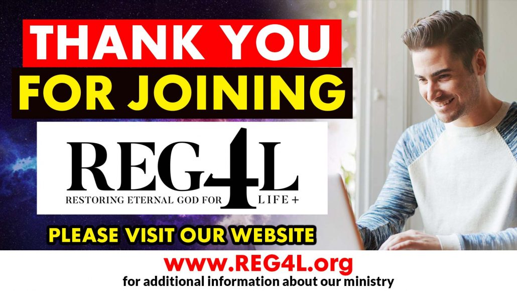 THANK YOU FOR JOINING REG4L