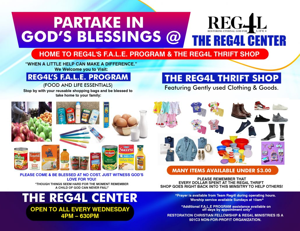 REG4L FAE THRIFT STORE JOINT FLYER OUTLINE